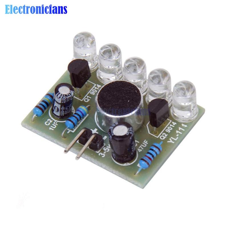 New 1pc Sound Control LED Melody Lamp Electronic Production Kits Suite DIY Kit 3V-5.5V