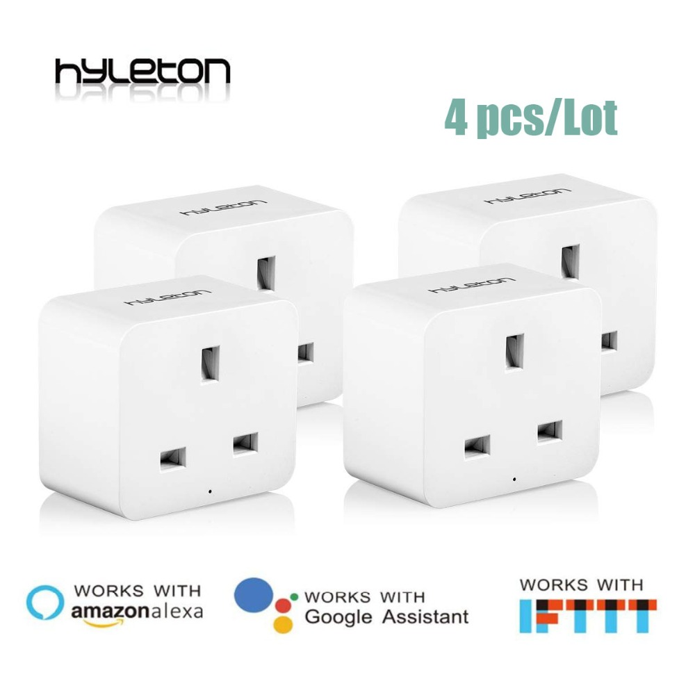 4 Pack UK smart socket wifi plug Remote Control UK power