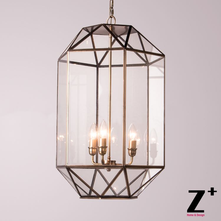 New Light Art Deco Brass Cage Glass Box  Chain Vintage Pendant Light Free Shipping free shipping 10 pcs functional queen cage bee match box moving catcher cage beekeeping tool
