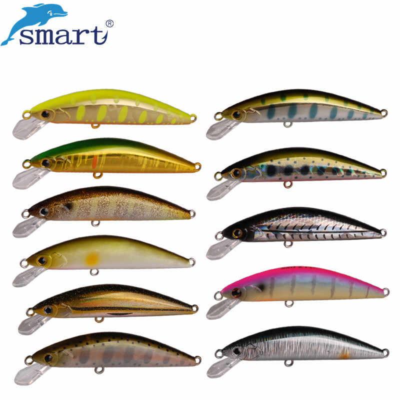 Smart Minnow pêche Leurre 6.5 cm 5g 3D yeux naufrage appât artificiel Dur appât avec VMC crochet Leurre Dur pêche Wobblers