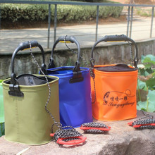Fishing Bag With The Handle EVA Tank folding water proof Outdoor water bucket 21*20*20cm 379g Fish tank Fishing Tackle