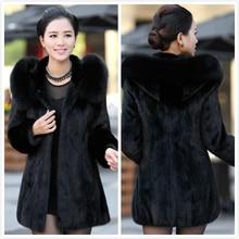 S 4XL Plus size Women Winter Hooded Fake Fur Coats Plus Size