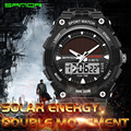 2017 New Sanda Brand Solar Energy Watch Digital Quartz Men Sports Watches Multifunctional Outdoor Military Dress Wristwatches