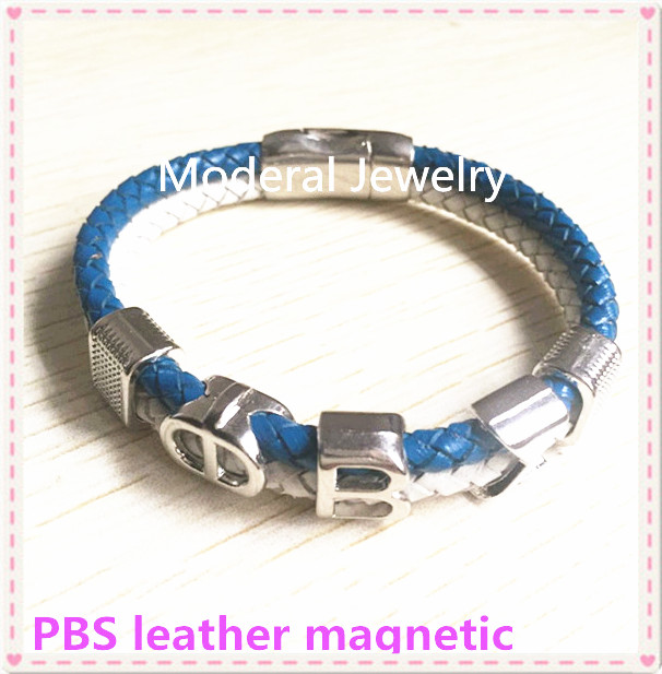 2017 New Phi Beta Sigma Magnetic Bracelet Two Strand Leather With Silver Beads Fraternity Greek Jewelry Accessory Ogl010 1 10pcs In Wrap Bracelets From