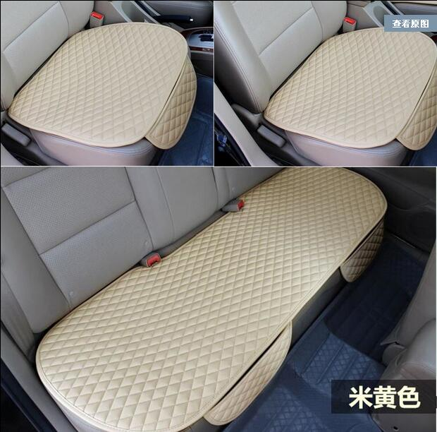 Image 1 - 3 pcs car seat cushion car fashion car seat cover Car Styling Auto accessories PU leather manufacturing-in Automobiles Seat Covers from Automobiles & Motorcycles