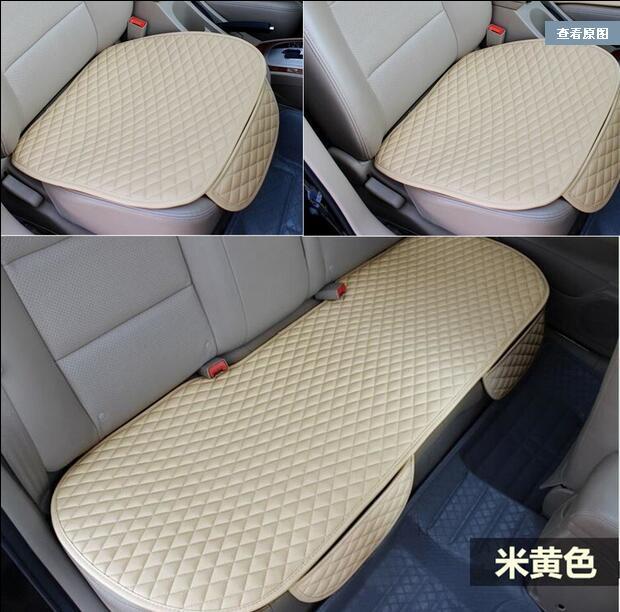 3 pcs 자동차 좌석 쿠션 자동차 패션 자동차 좌석 커버 자동차 스타일링 자동차 액세서리 pu 가죽 제조