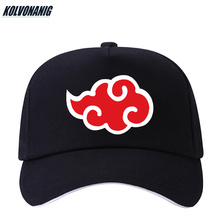 KOLVONANIG 100% Cotton Japanese Akatsuki Logo Anime Naruto Dad Hat Uchiha Family Printed Baseball Caps Black Snapback Hats