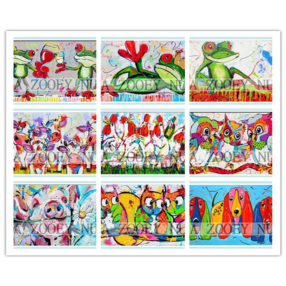 US $5 06 OFF 3D Berlian Bordir Berlian Mosaik Beadwork Merajut Kit Untuk Bordir Kartun hewan Katak anjing ayam owl Berlian PaintingK1224 di