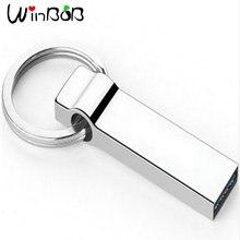 Waterproof Steel USB Flash Drive metallic pen drive 32/64/128/256 USB stick pendrive flash drive metallic storage unit