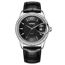 CASIMA de la marca de lujo relojes de las mujeres 2017 señoras de La Manera ocasional de cuarzo reloj de pulsera de cuero de las mujeres impermeables relojes de mujer #2631