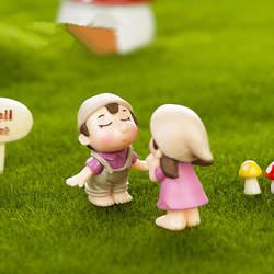 2 шт./лот милые влюбленные пара миниатюрные фигурки сказочные садовые миниатюры гном моховые террариумы изделия из смолы Декор Аксессуары