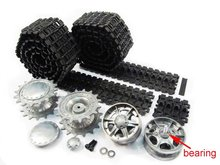Mato Metal upgraded Tracks, sprockets, idler wheels(with bearings) parts set for Heng Long 3878-1 1/16 1:16 RC Russian KV-1 Tank