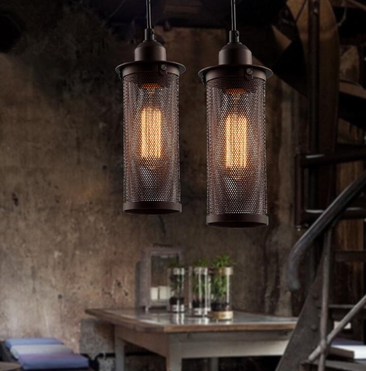 Simple Retro Industrial Wind Balcony Restaurant Bar Counter Metal Net Creative Chandelier Free Shipping