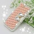 Bling luxo cristal de diamante de couro bolsa de tampa da caixa de telefone para samsung galaxy a5 Nota 2 3 4 S3 S4 S5 S6 A7 S7Edge & Para i6 6 S Plus