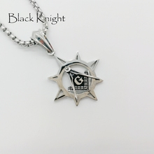 Black Knight Vintage silver color Free-Mason necklace stainless steel mens personal jewish fashion Free mason necklace BLKN0671 брюки free knight 1006