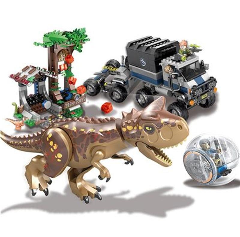 Jurassic 2 Monde Parc Dinosaure indoraptor Carnotaurus Évasion Modèle Building Block Jouets Pour Enfants Compatible avec Legoing