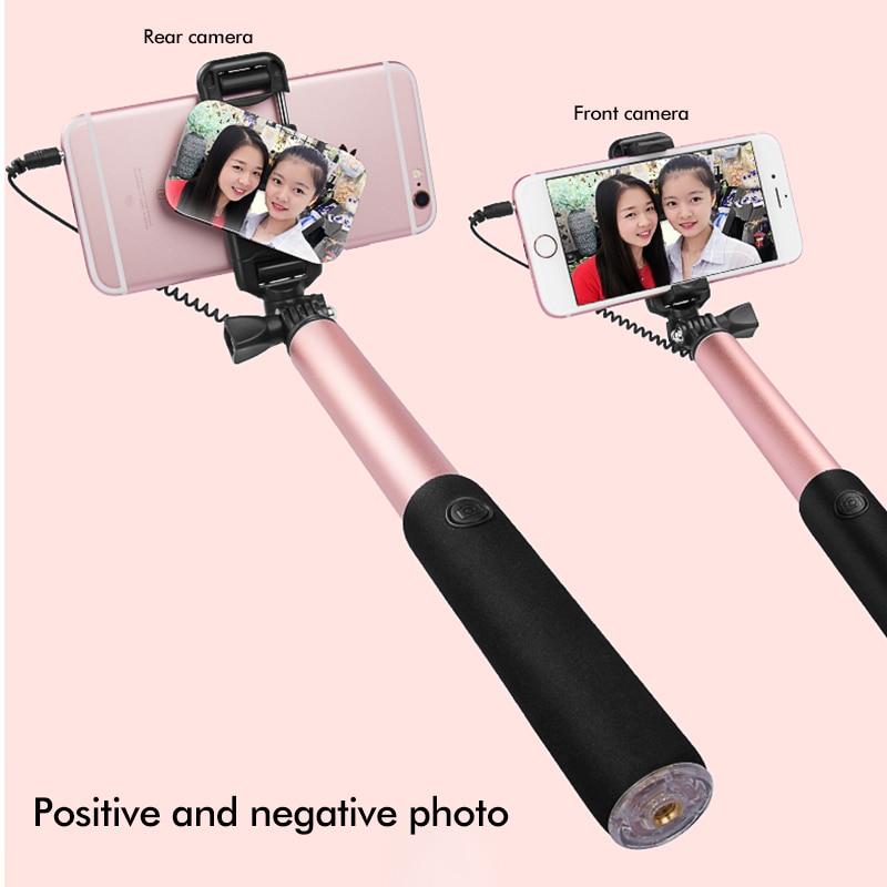 Universal con conexión de cable Selfie Stick Mirror Monopod - Cámara y foto - foto 2