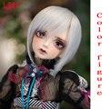 Oueneifs frete grátis 7-8 polegada 1/4-alta temperatura peruca curta menino boneca sd bjd Perucas de cabelo com franja moda tipo elegante cabelo