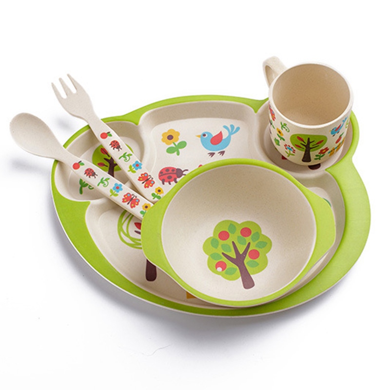 Children Bamboo Dishes Kids Feeding Tableware Infant Dinnerware Fork Spoon Cup Toddler Bowls Food Container Utensils T0525-in Dishes from Mother u0026 Kids on ...  sc 1 st  AliExpress.com & Children Bamboo Dishes Kids Feeding Tableware Infant Dinnerware Fork ...