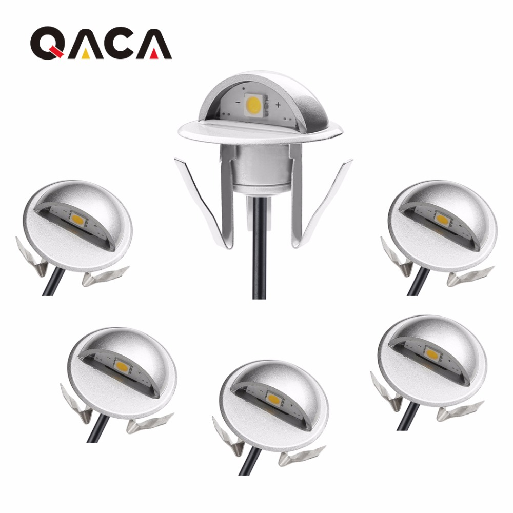 QACA DC 12V Stair Well Corridor Wall Lighting Decorative Lamp Sheds Porches Recessed Led Deck Stair Light Set of 6pcs B106A-6 блуза lion of porches lion of porches li027ewyal39