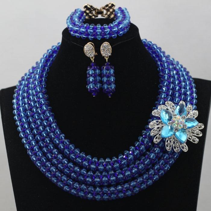 Splendid Royal Blue Nigerian Jewelry Set New Afican ...