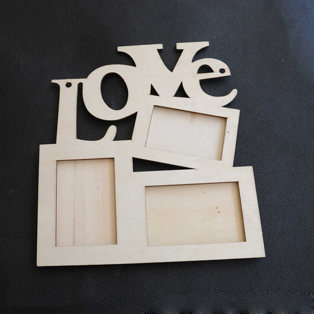 New Hot Hollow Love Design Wooden Photo Frame Picture Frame Art Home Decor