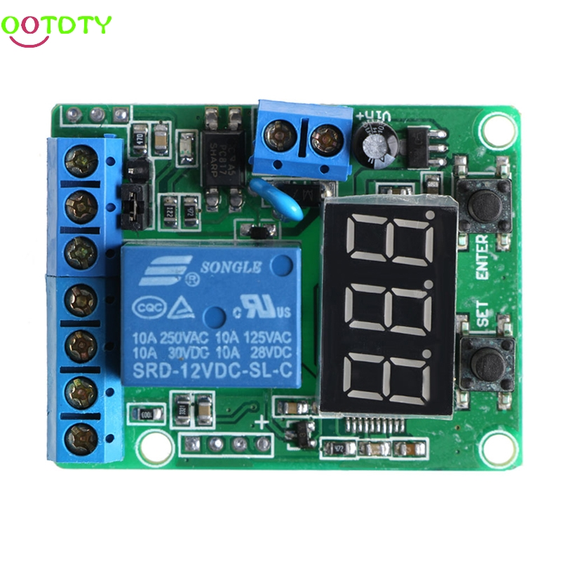 DC Relay Module Control Board 12V Switch Load Voltage protective Detection Test  828 Promotion dc 12v led display digital delay timer control switch module plc automation new 828 promotion