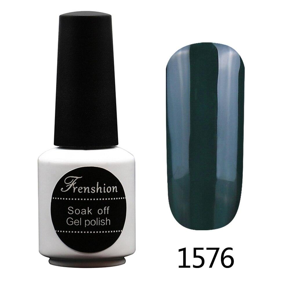 Frenshion 7.3ML Esmalte Dark Green Nail Gel Art Easy To Dry UV Gel ...