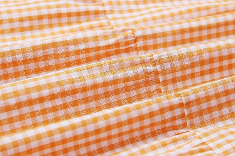 2019 Новое поступление, платья в клетку для молодых девушек, летние сексуальные женские короткий рукав-клеш, Драпированное Платье с круглым вырезом, однотонная одежда, N-0684 #