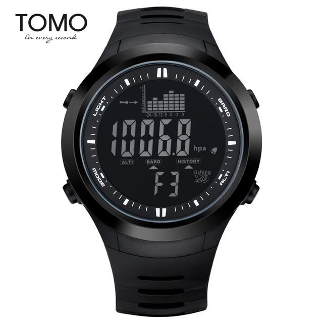 Tomo Relógio Multifuncional Relógio Do Esporte Fora Masculino Caminhadas À Prova D' Água Relógio Eletrônico Relógio Pesca
