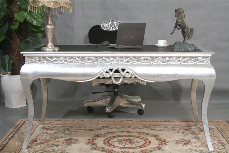 European Post Modern Neo Classical Office Desk Den Furniture Silver And Black Combination Of Rotating Office Chair Desk In Dining Tables From Furniture On