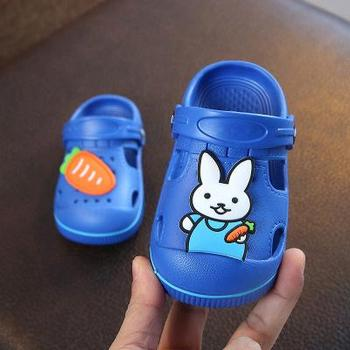 2-5y Kids Mules & Clogs Summer Baby Boys Girls Croc Sandals Flat Heels Rabbit Turnip Slippers Children's Garden Shoes Y17 - as picture, 28