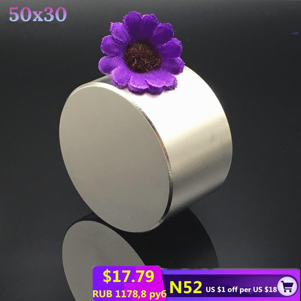 1 pc N52 Neodym magnet 50x30 Super starke magnet permanent neodym runde starken angeln magnetische Rare Earth disc