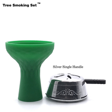 Nargile Hortumu Gift Kaloud Chicha Charcoal Holder Green Bowl Narguile Hookah Pipe Shisha Accessories Cazoleta TWAN0356