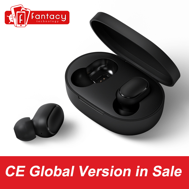 In Stock Xiaomi Redmi Airdots TWS Bluetooth Earphone Stereo bass Bluetooth 5.0 Eeadphones With Mic Handsfree Earbuds AI Control xiaomi redmi airdots kaina