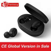 W magazynie Xiaomi Redmi Airdots TWS Bluetooth słuchawki bas radiowy Bluetooth 5.0 Eeadphones z mikrofonem zestaw głośnomówiący z słuchawkami AI Control