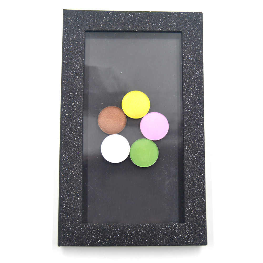 Black Glitter Fashion professional Empty magnetic eyeshadow palette DIY makeup tool eye shadow plate blusher fundation cosmetics