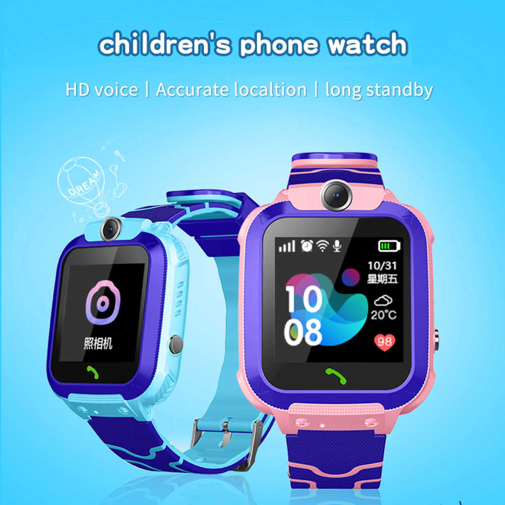 GPS Child Smart Watch Phone Position Children Watch 1.2 Inch Color SOS Smart Baby Watch Children Clock tracker anti-lost monitor