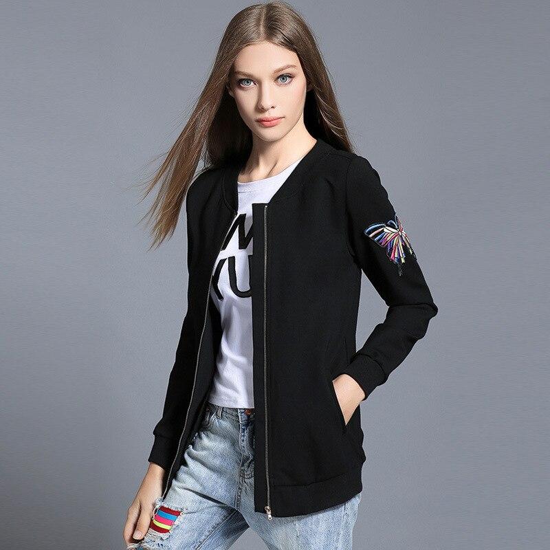 Дамы Курточка бомбер плюс Размеры весенние черные Для женщин одноцветное Пальто для будущих мам модные панк ветровка Курточка бомбер Бейсб...