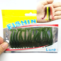 16Pcs/Lot 5cm 1g silicone bait Worms iscas artificiais para pesca fishing lure with salt smell soft baits Fishing Takcle WQ169