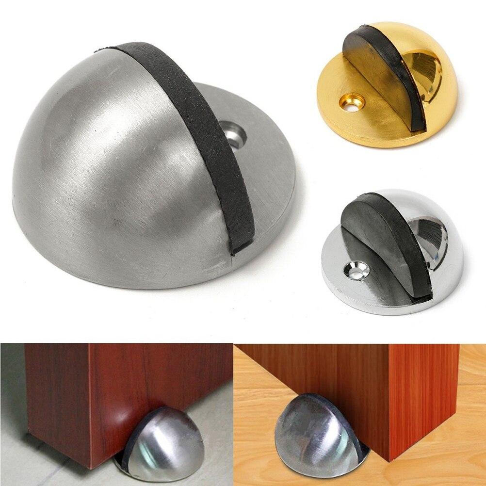 jetting 1 pcs alloy half moon door stopper wood door holder casting door