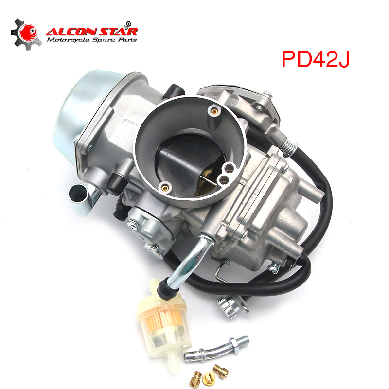 Alconstar Motorcycle 42mm Carburetor PD42J For 500cc 600cc 700cc Scooter Engine YFM600 Raptor 500 ATV Quad