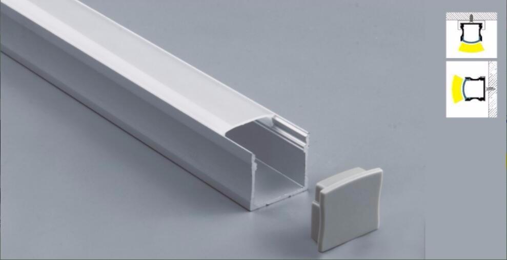 US $245 48 |Free Shipping 2m/pcs 25pcs/lot Aluminum LED Profile for various  LED strips/aluminum extrusion/square aluminum led profile-in LED Bar