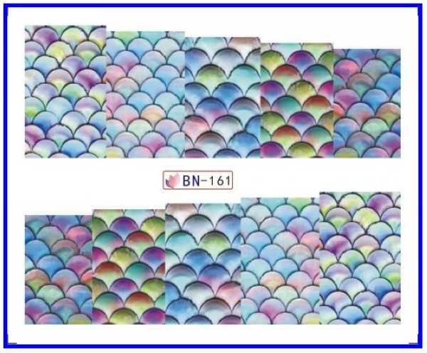 네일 스티커 전체 커버 물 전송 스티커 네일 데칼 물고기 규모 조가비 바다 스타 진주 BN157-163