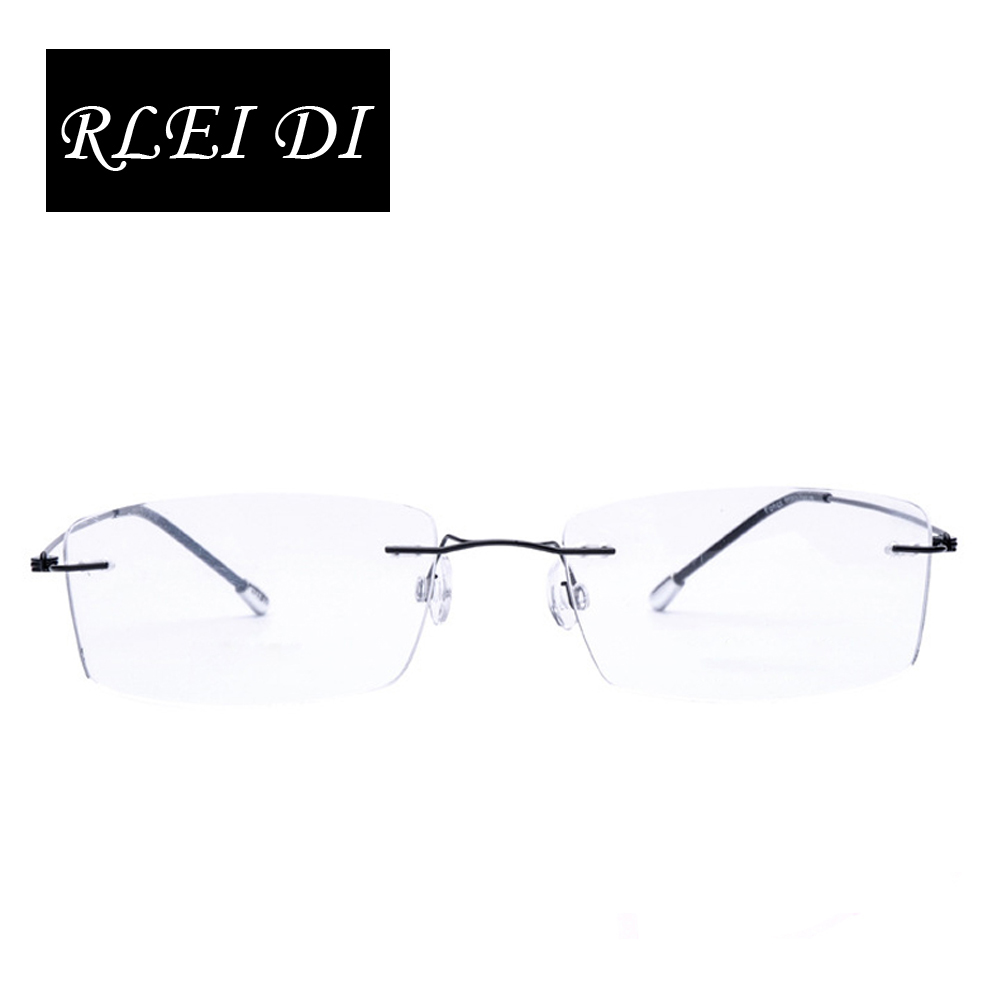 ᐂRLEI DI Highest quality Ultra-Light Rimless Clear Fashion Glasses ...