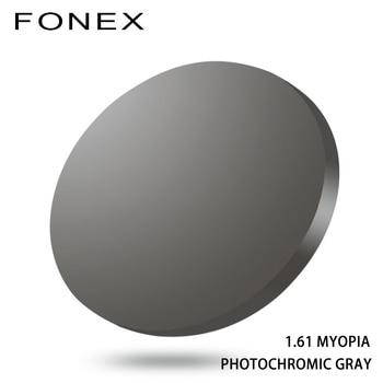1.56 1.61 1.67 (SPH -0.50~-8.00) Photochromic Prescription CR-39 Resin Aspheric Glasses Lenses Myopia Sunglasses Lens Lentes