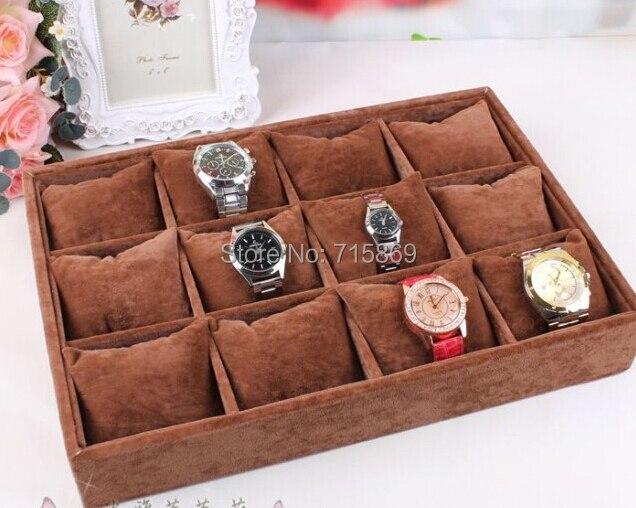 Бесплатная доставка 1 шт Кофе Цвет Бархат Браслет Ювелирные Изделия Дисплей Подушки браслет/часы небольшой лоток для хранения r