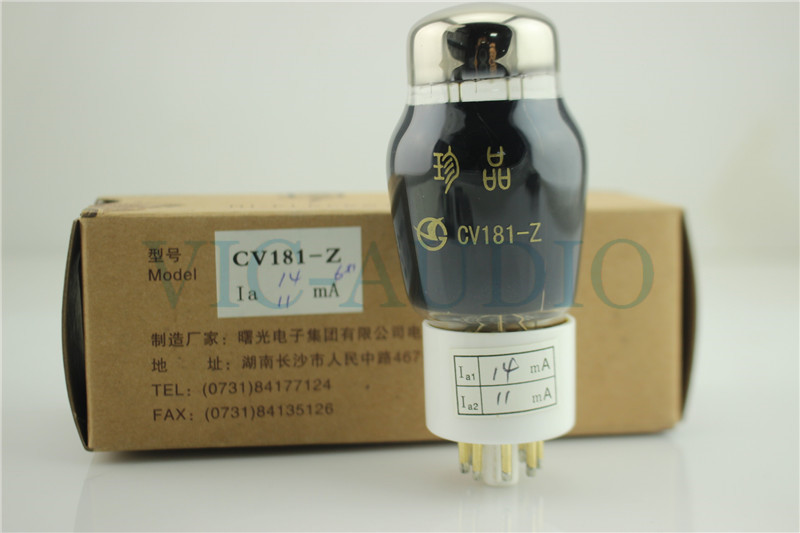 1PC NEW SHUGUANG CV181-Z HIFI ELECTRON Tube Replace CV181 6N8P 6H8C 6SN7 8PINS Vacuum Tube Free Shipping new shuguang 211 hifi electron tube 4pins tube 1piece free shipping
