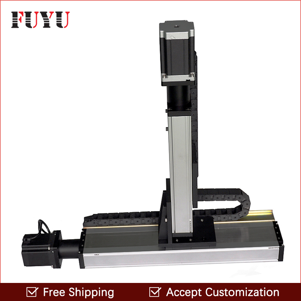 Free shipping factory sale 120mm width ball screw actuators motorized XY table with stepper motor free shipping factory sale ball screw linear guide rail xyz motorized stage table robotic arm z axis 300mm with motor