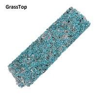 GrassTop 2017 New Rhinestone Turquoise Gravel Hotfix Rhinestones Adhesive Sticker For Craft DIY Stone Sheet Bling